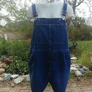 Motherhood denim overall shorts large